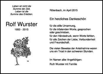 Zur Gedenkseite von Rolf Wurster