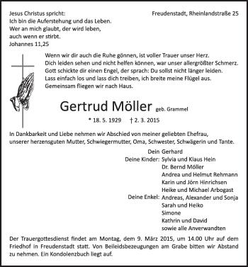 Zur Gedenkseite von Gertrud Möller