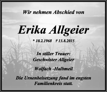 Zur Gedenkseite von Erika Allgeier