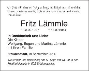 Zur Gedenkseite von Fritz Lämmle