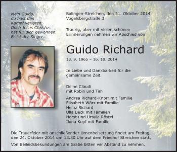 Zur Gedenkseite von Guido Richard