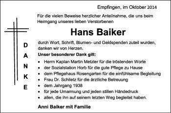 Zur Gedenkseite von Hans Baiker