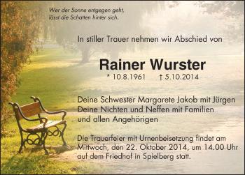 Zur Gedenkseite von Rainer Wurster