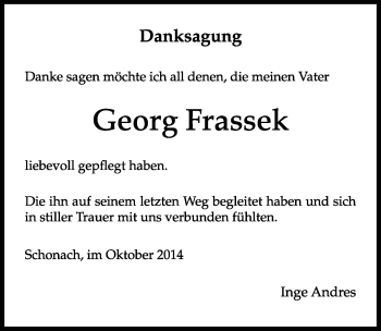 Zur Gedenkseite von Georg Frassek