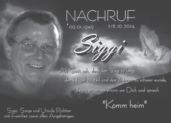 Zur Gedenkseite von Siggi