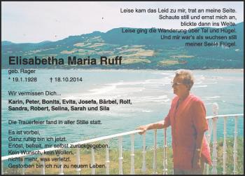 Zur Gedenkseite von Elisabetha Maria Ruff