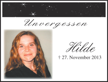 Zur Gedenkseite von Hilde