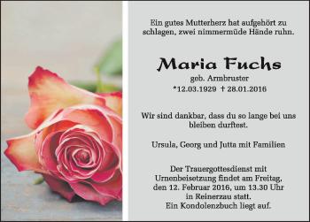 Zur Gedenkseite von Maria Fuchs