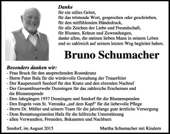 Zur Gedenkseite von Bruno Schumacher
