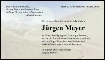Zur Gedenkseite von Jürgen Meyer