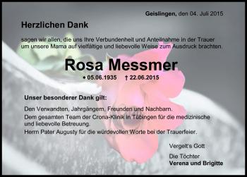 Zur Gedenkseite von Rosa Messmer
