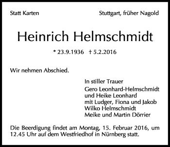 Zur Gedenkseite von Heinrich Helmschmidt
