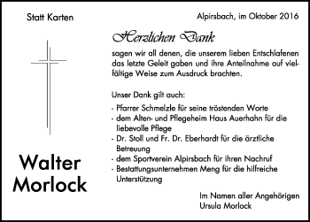 Zur Gedenkseite von Walter Morlock