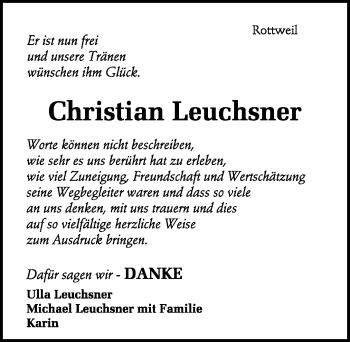 Zur Gedenkseite von Christian Leuchsner