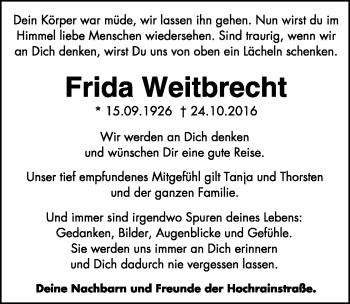 Zur Gedenkseite von Frida Weitbrecht