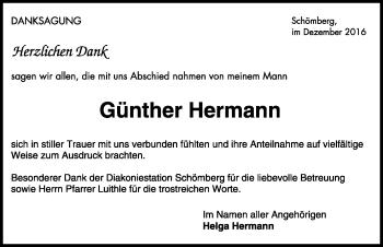Zur Gedenkseite von Günther Hermann