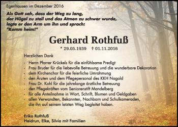Zur Gedenkseite von Gerhard Rothfuß