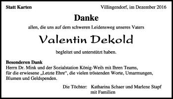 Zur Gedenkseite von Valentin Dekold
