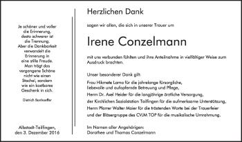 Zur Gedenkseite von Irene Conzelmann