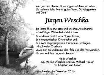 Zur Gedenkseite von Jürgen Weschka