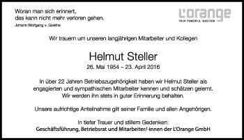 Zur Gedenkseite von Helmut Steller