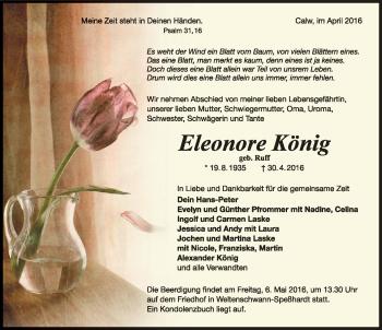 Zur Gedenkseite von Eleonore König