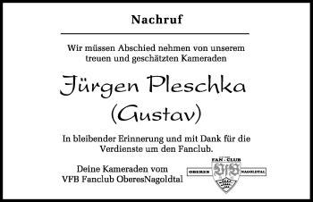 Zur Gedenkseite von Jürgen Pleschka (Gustav)