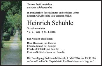 Zur Gedenkseite von Heinrich Schühle