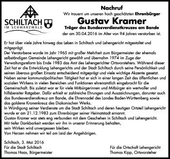 Zur Gedenkseite von Gustav Kramer