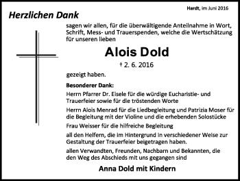 Zur Gedenkseite von Alois Dold
