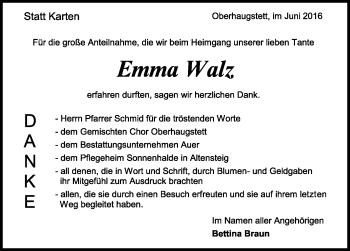 Zur Gedenkseite von Emma Walz