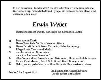 Zur Gedenkseite von Erwin Weber