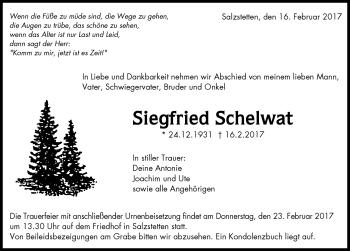 Zur Gedenkseite von Siegfried Schlewat