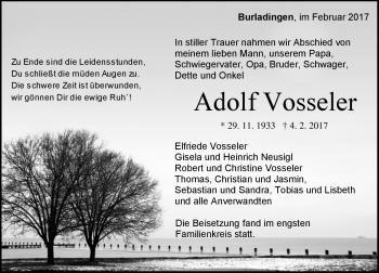 Zur Gedenkseite von Adolf Vosseler